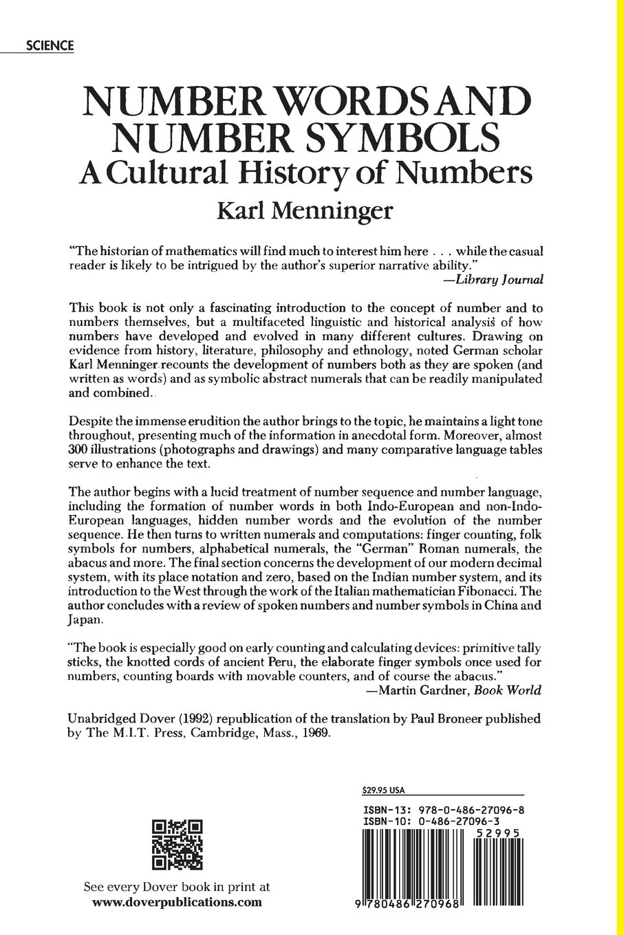Number words and number symbols a cultural history of numbers number words and number symbols a cultural history of numbers karl menninger 9780486270968 amazon books biocorpaavc