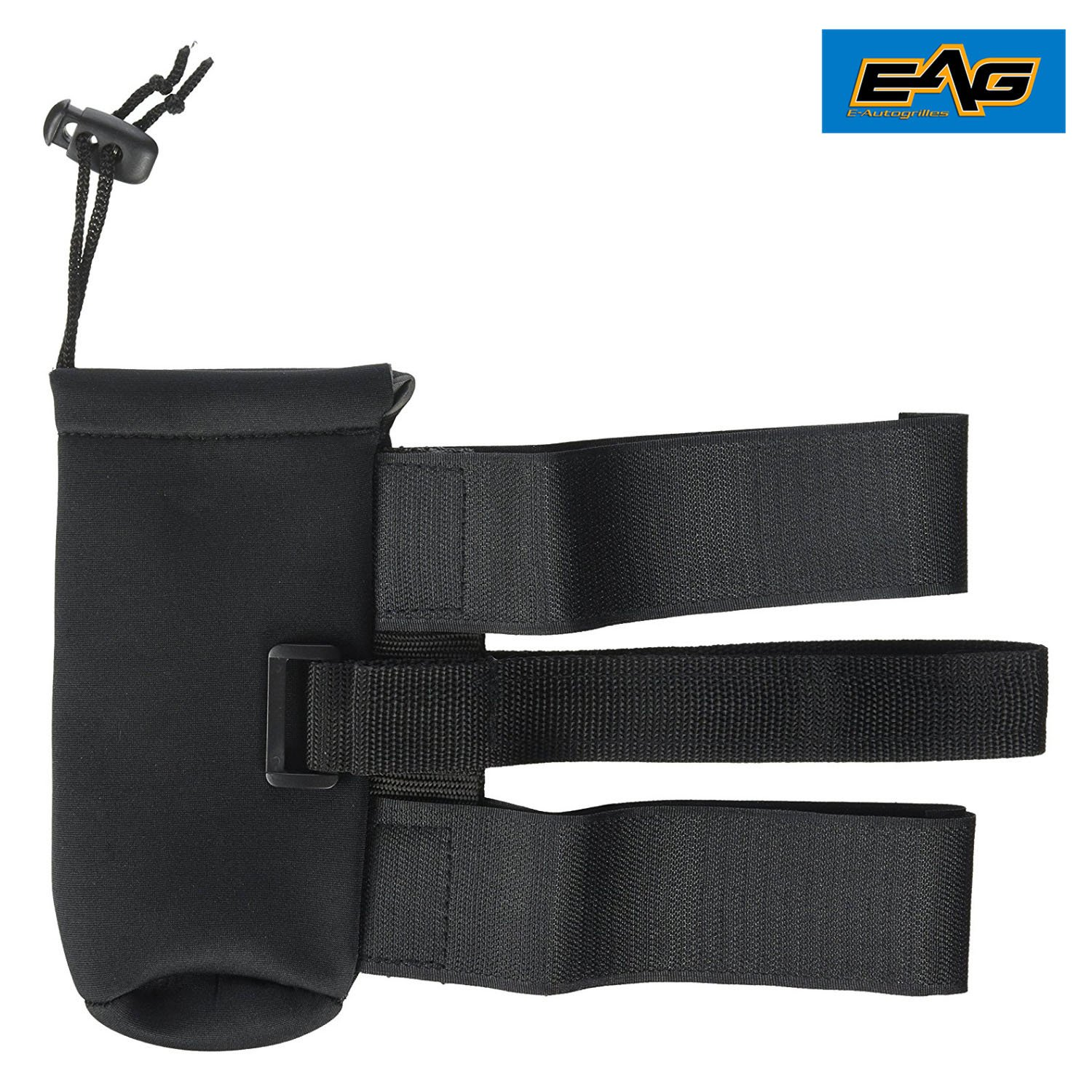 EAG E-Autogrilles 51-9530 Black Roll Bar Fire Extinguisher Holder (87-16 Jeep Wrangler YJ/TJ/JK 1 lb)