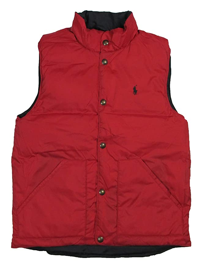 Polo Ralph Lauren Hombre Reversible Acolchado Chaleco - Rojo ...
