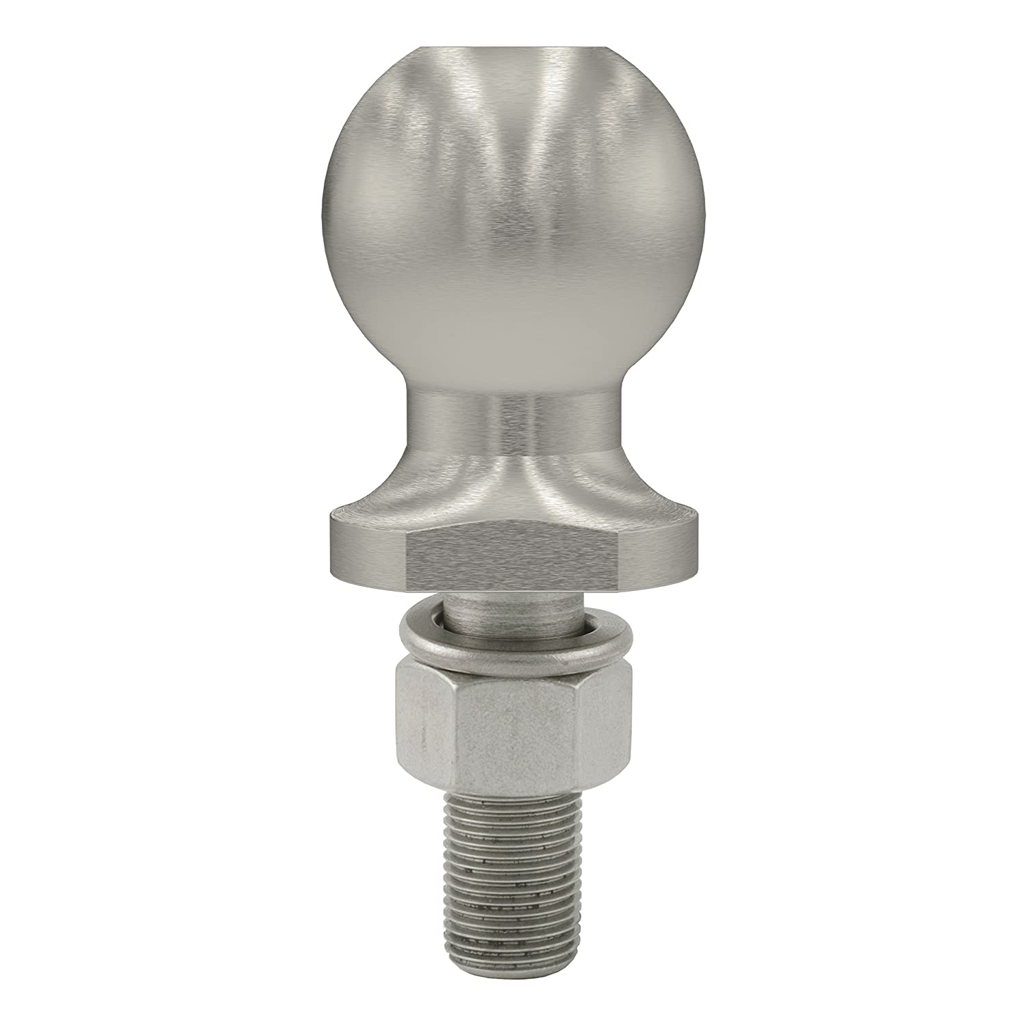 2-Inch Diameter Tow Ball with 3//4-Inch x 2-1//8-Inch Shank CURT 40052 Stainless Steel Trailer Hitch Ball 3,500 lbs.