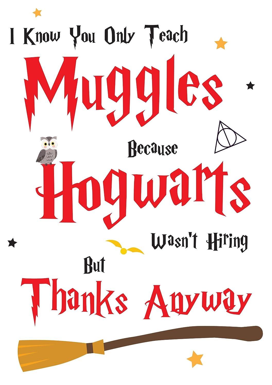 Tarjeta de agradecimiento para profesor Hogwarts Harry ...