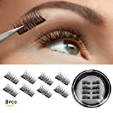 Amazon Price History for:Vassoul Magnetic False Eyelashes - 0.2mm Ultra Thin, 3D Fiber Reusable Best Fake Lashes, Natural Handmade Extension Fake Eye Lashes, No Glue, 8 Pieces