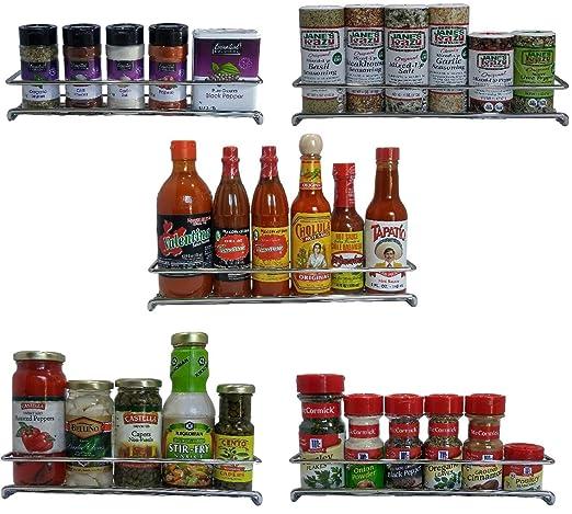Amazon.com: Soporte de pared Spice Rack organizador para ...