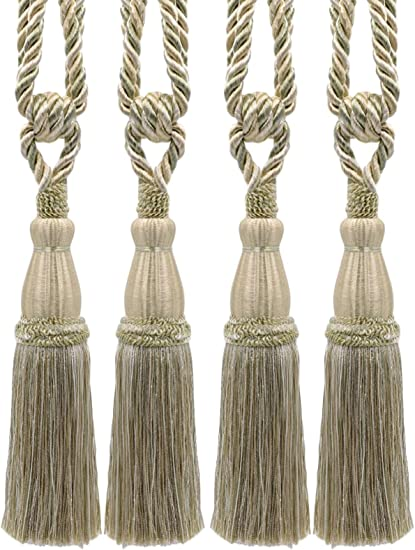 """28/""""spread with 6/""""tassel in 2 Bright colors. Curtain /& Chair Tie Back"""