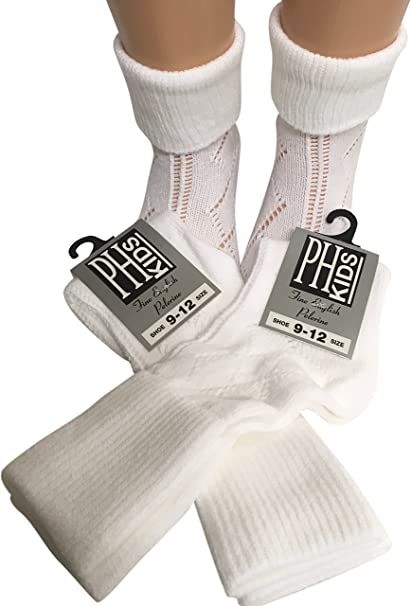UK Made Baby Socks 6 pairs of 100/% Nylon Turn over top Ankle Length