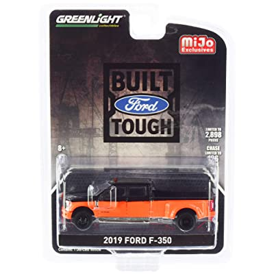 2020 Ford F-350 Super Duty Pickup Truck Orange and Black Limited Edition to 2,898 Pieces Worldwide 1/64 Diecast Model Car by Greenlight 51318: Toys & Games