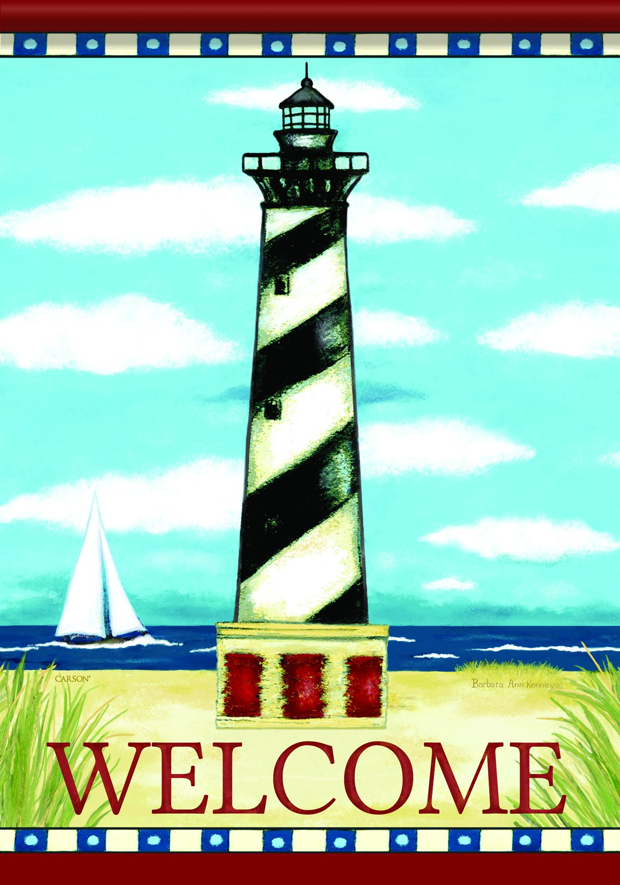 Carson Home Accents FlagTrends Classic Large Flag, Hatteras Light