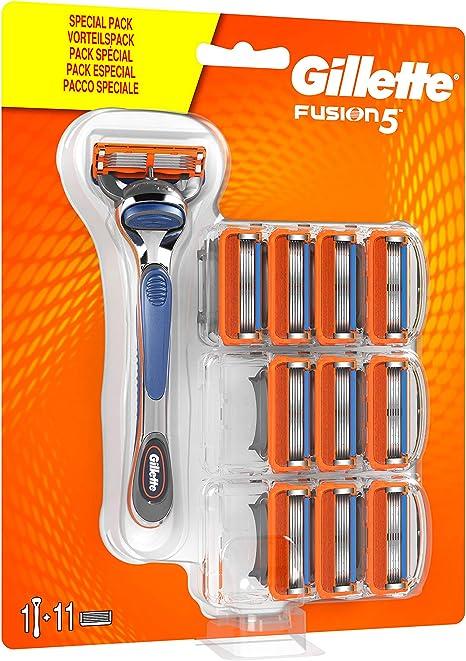 Lamette gillette fusion 5 rasoio uomo 11 lamette di ricambio per una rasatura confortevole 108278776