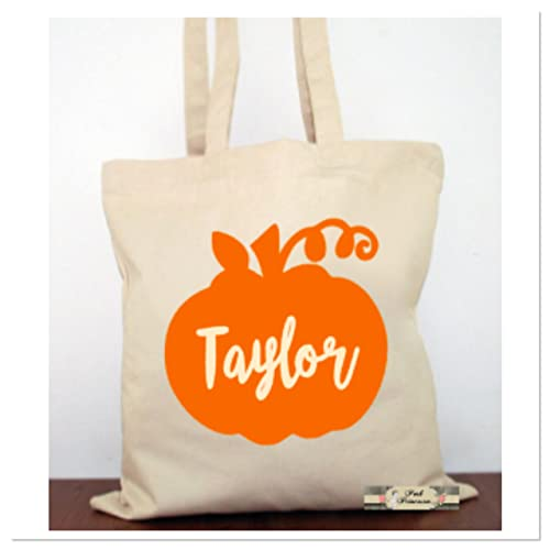 Halloween Trick Or Treat Bags Personalized.Personalized Trick Or Treat Bag Personalized Halloween Pumpkin Bag Halloween Favors Halloween Costume Canvas Tote Child Gift