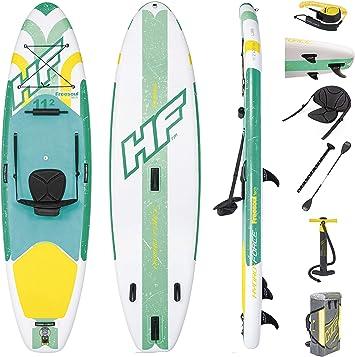 Leader Accessories Bomba de Tabla Paddle Surf Hinchable Inflador de Mano Doble Acci/ón R/ápido
