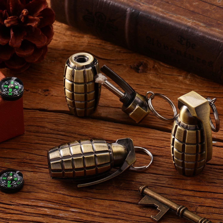 Mudder 3 Pieces Permanent Metal Match Flint Match Lighter Keychain Forever Waterproof Match Matchstick Lighter Flint Fire Starter for Camp Barbecue Hike Survival Emergency