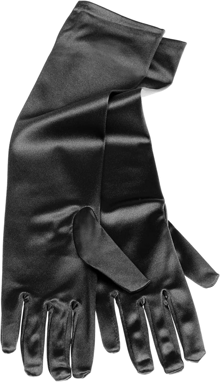 Deiters Handschuhe Satin schwarz 40cm
