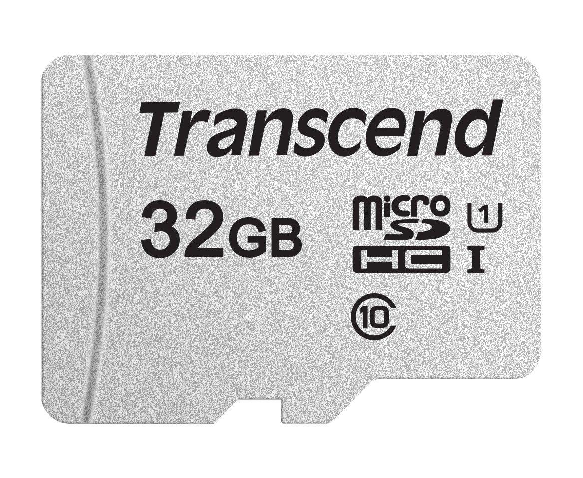 Transcend USD300S - Tarjeta microSD de 32 GB, microSDHC Clase 10 UHS-I, Lectura hasta 95 MB/s