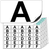 Premium Plastic Alphabet Letter Stickers A to Z (5 of each letter) + 25 Blank. Ultra Durable Label Stock. Suitable For Outdoor Use. 100% Waterproof.