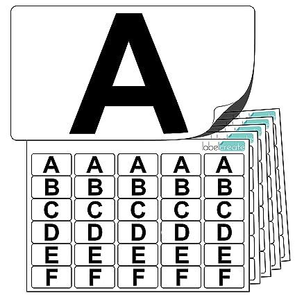 Adesivi In Plastica Alta Qualità Lettere Da A A Z 5 Di Ogni Lettera