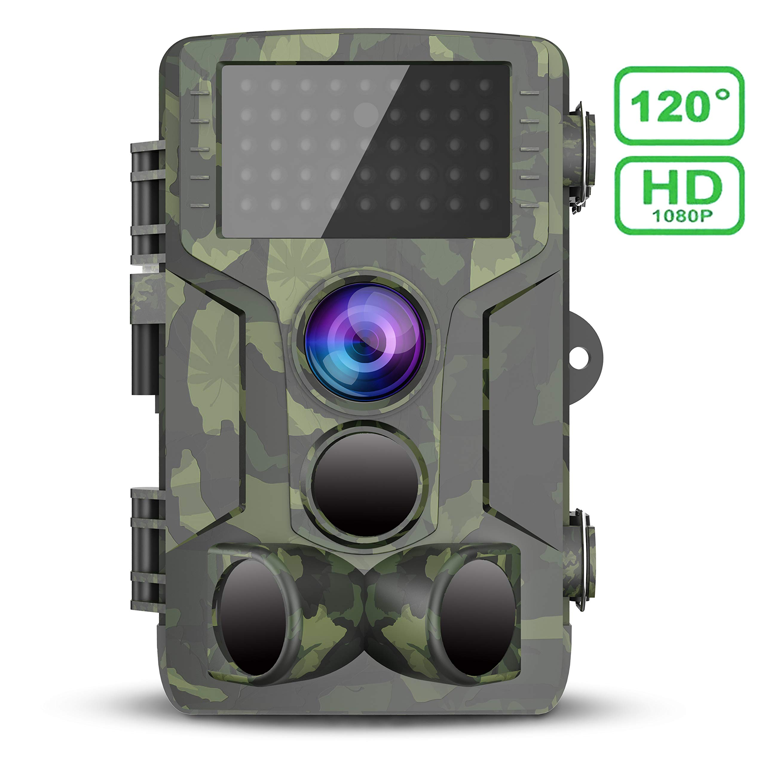 FHDCAM Trail Game Camera 1080P HD IP65 Waterproof Scouting Camera, 120°Wide Angle PIR Sensor Motion Activated Night…