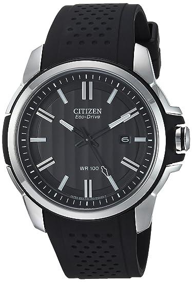 Citizen AW1150-07E - Reloj para Hombres, Correa de Goma Color Negro: Amazon.es: Relojes