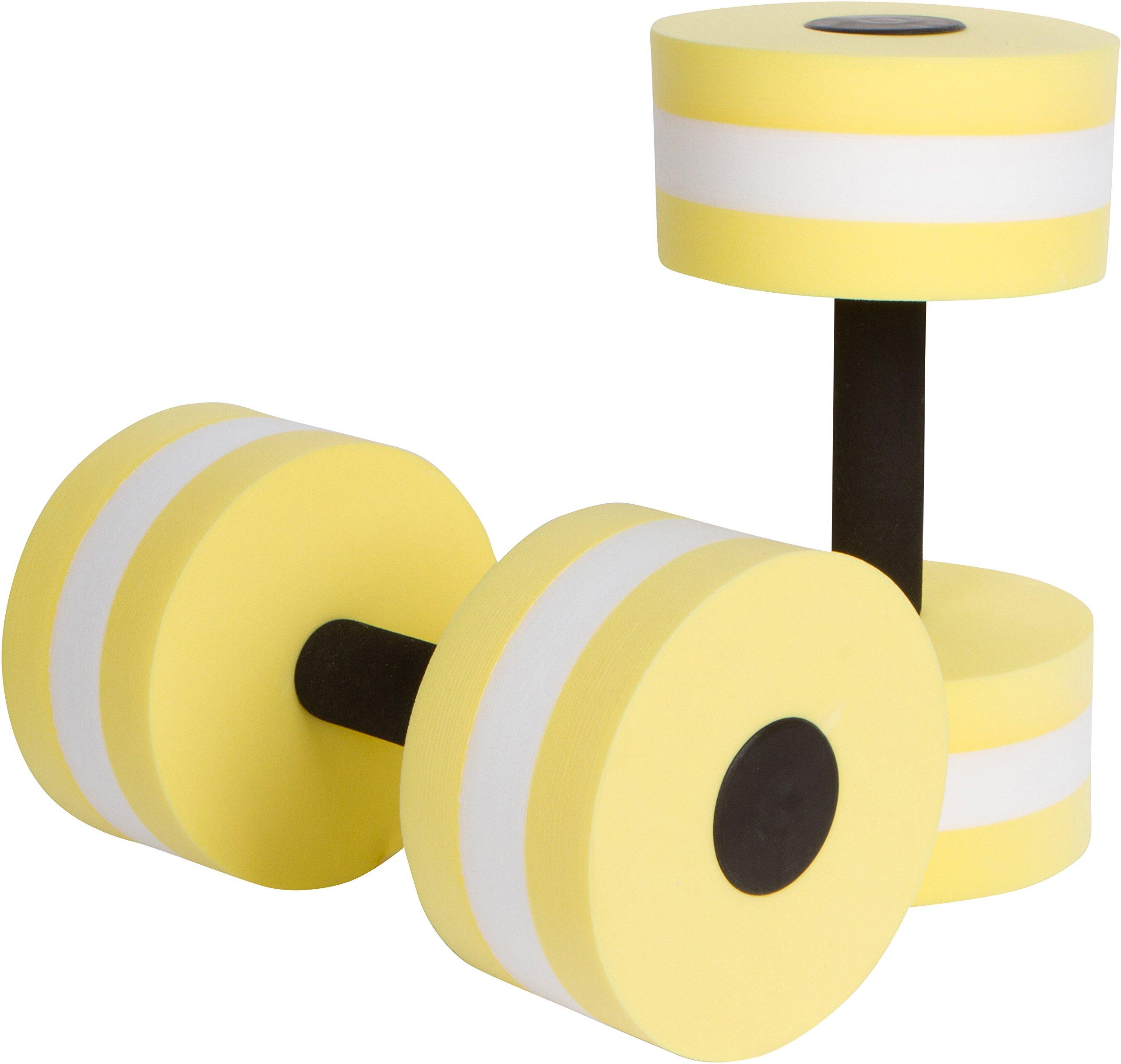 Trademark Innovations Aquatic Exercise Dumbells - Set of 2 Foam - for Water Aerobics (Yellow)