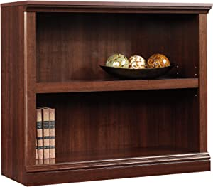 2-Shelf Bookcase with an Adjustable Shelf, Wall Unit, Bookrack, Library, Bookshelf, Home Office Furniture, Open Storage Space, Perfect for Living Room, Multiple Finishes (Select Cherry)