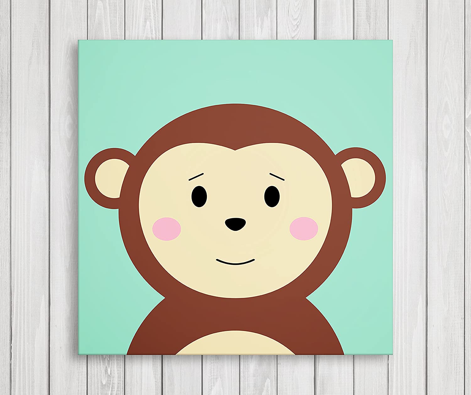 Cute Little Animals Nursery Wall Decor, Baby Room Canvas Art