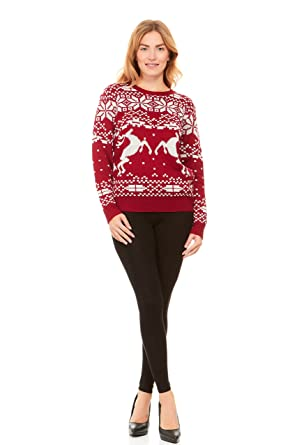 Amazon.com: Wet Seal Women's Knit Pullover Holiday Fair Isle ...