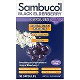 Sambucol Advanced immune black elderberry capsules with vitamin c and zinc, 30 Count