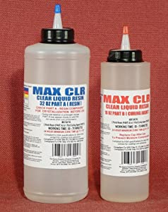 MAX CLR A/B Crystal Clear Epoxy Resin Coating for 3D Printed PLA, PVC, PET■ FDA Compliant Food Safe Coating ■ Casting Resin ■ Impact Resistant ■ Waterproof ■ Low Toxicity ■ Tabletop ■ Bar Top Coating