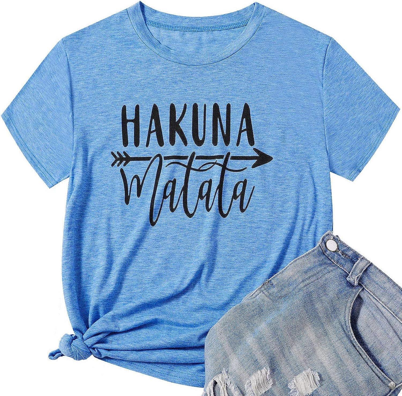 HAKUNA MATATA Unisex T-shirt Casual Men/'s Women/'s Tops Summer Slim Tee