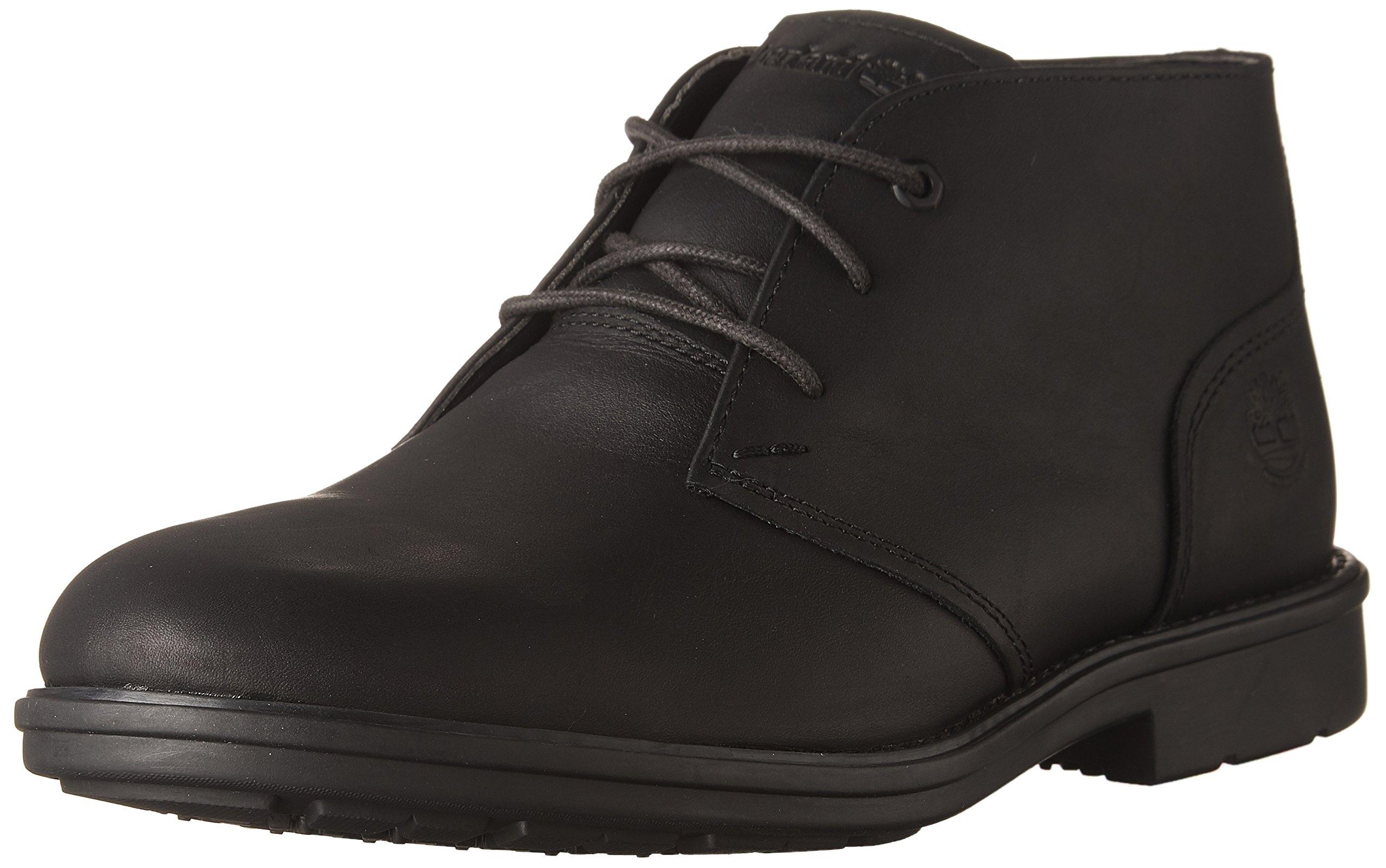 Timberland Men's Carter Notch Waterproof Plain Toe Chukka Black Full Grain Boot 13 D (M)