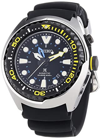 amazon com seiko sun021p1 prospex kinetic gmt mens divers watch seiko sun021p1 prospex kinetic gmt mens divers watch
