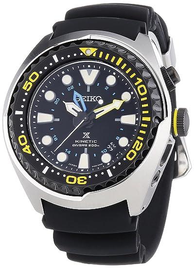 Seiko Reloj Analógico para Hombre de Kinetico con Correa en Silicona SUN021P1: Amazon.es: Relojes