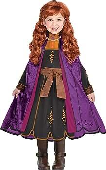 Disney Frozen 2 Anna Adventure Dress Girls Role-Play Costume Fairy Tale Kids