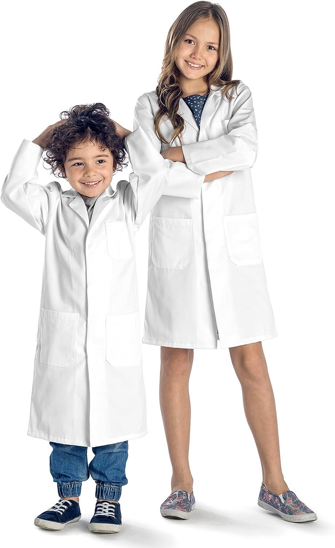 Nouveau coton enfants garçons enfants blanc lab coat doctor medical school montre