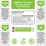 Green Tea Extract 98% Standardized EGCG for Healthy Weight Support 1000mg - Supports Healthy Heart, Metabolism & Energy with Antioxidants & Polyphenols - Gentle Caffeine, Made in USA - 240 Capsules