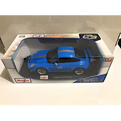 Maisto Porsche 911 GT3 RS 4.0 Blue 1/18 Car Model by Bburago: Toys & Games