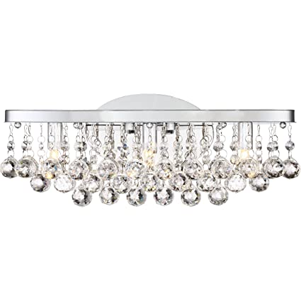 wholesale dealer c3065 c5d19 Quoizel BRX8603CLED Bordeaux with Clear Crystal Bath Light Large Polished  Chrome
