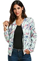Meaneor Women Fashion Sequin Zip Up Glitter Bomber Jacket