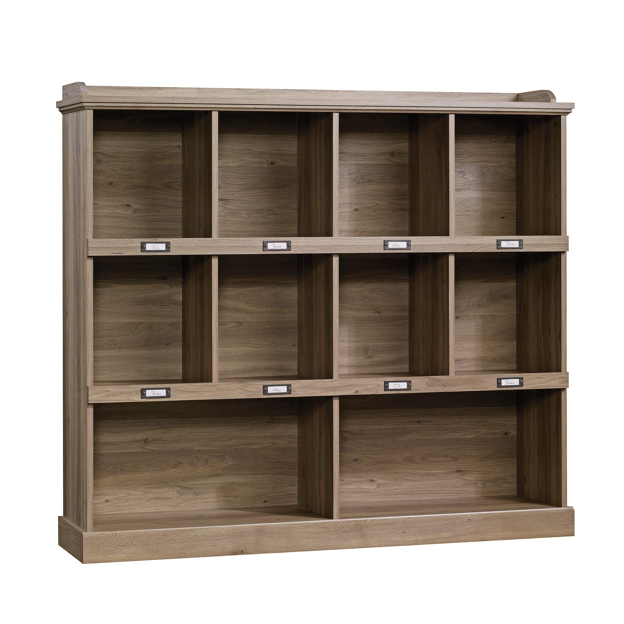 Set of 2 Barrister 10 Cube Bookcase Gallery Display, Ample Storage Space, Brilliant Quality Wood Build, Versatile Contemporary Modern Design, 53.''L x 12'' W x 47.5'' H Dimensions, Salted Oak Finish by Diversified Closet