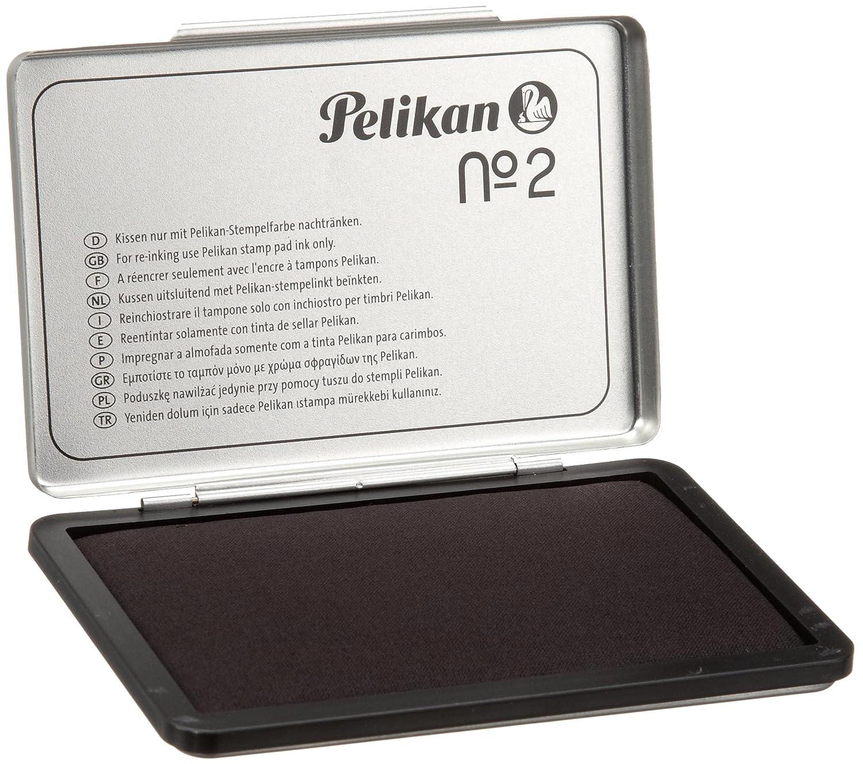Pelikan 331777 Cuscinetti per Timbri, N.2 Metallo, 7 x 11, Nero