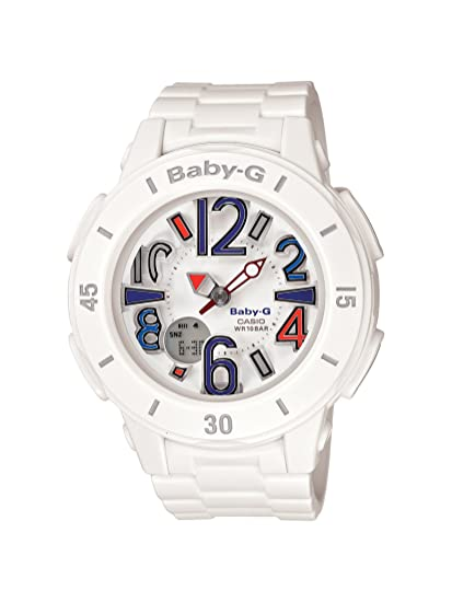 428164bb5988c Casio Women s BGA170-7B2 Baby-G Shock Resistant White Resin Analog Watch   Casio  Amazon.ca  Watches