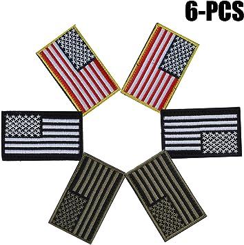 FunPa Estados Unidos Bandera Parche, 6 Piezas Airsoft Parches ...
