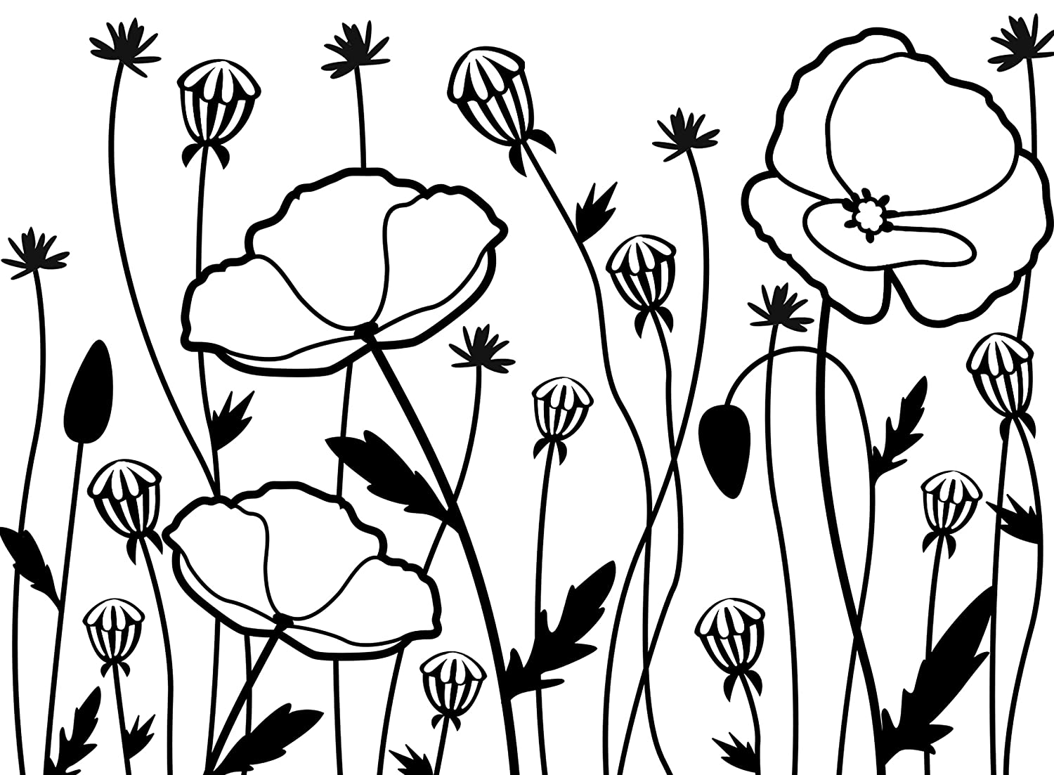 darice poppy field embossing template transparent 10 8 x 14 6 cm
