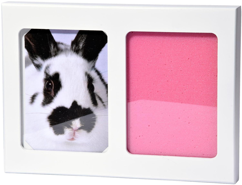 dobar 36011 Bilderrahmen - Kaninchen Hund mit 2 x 3D Pfotenabdruck ...