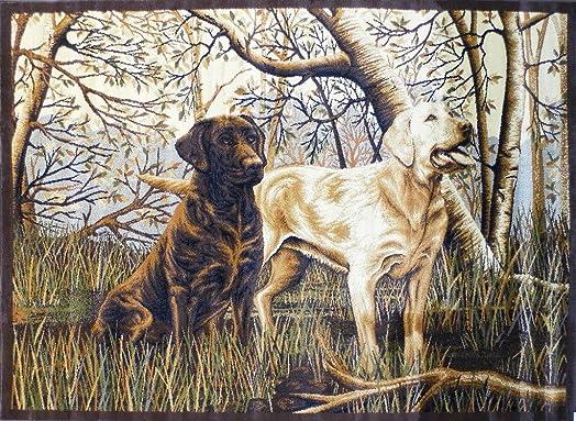 Area Rug Labrador Retriever Scene 7 Feet 7 Inch X 10 Feet 6 Inch