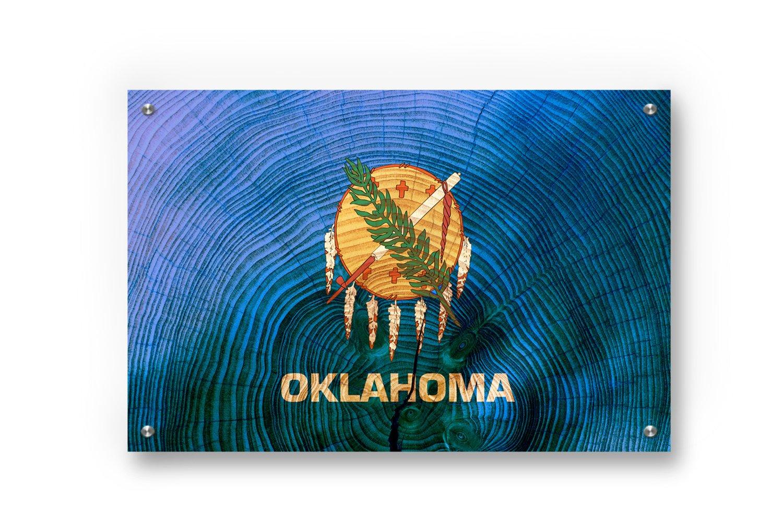 Buttered Katオクラホマ状態フラググラフィティウォールアートにプリントつや消しアルミニウム Medium (28 x 17 Inches) Inches) ブルー ブルー 14 B07BYYS474 Small (22 x 14 .5 Inches) Small (22 x 14 .5 Inches), さいたまけん:612f90a5 --- ijpba.info
