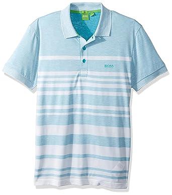6f5c17996 Amazon.com: BOSS Green Men's Paule 8 Striped Short Sleeve Polo Shirt: Hugo  Boss: Clothing
