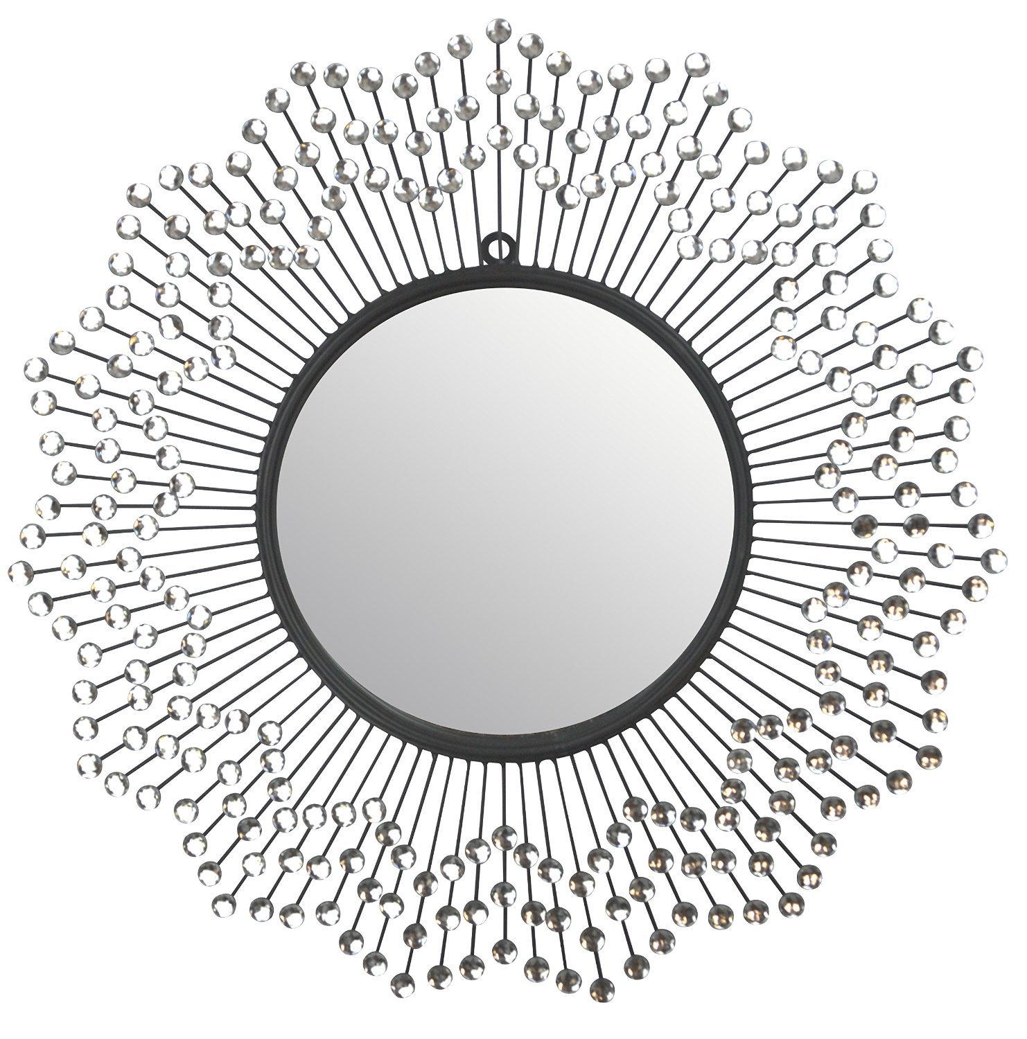 mirror. Amazon.com: Lulu Décor, Celebration Metal Wall Mirror, Frame 24\u201d, Round Decorative Mirror For Living Room And Office Space: Home \u0026 Kitchen