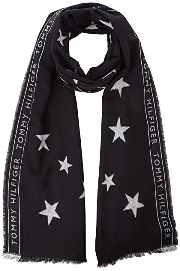 56ee74e3be5c Tommy Hilfiger Women s Tommy Selvedge Scarf, Blue (Fil Coupe  Lurex Stars  902)