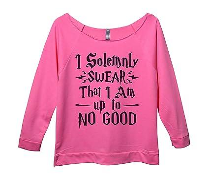 "71bd8a4ec Womens Raw Edge Harry Potter Sweat Shirt 3/4 Sleeve ""I Solemnly Swear"