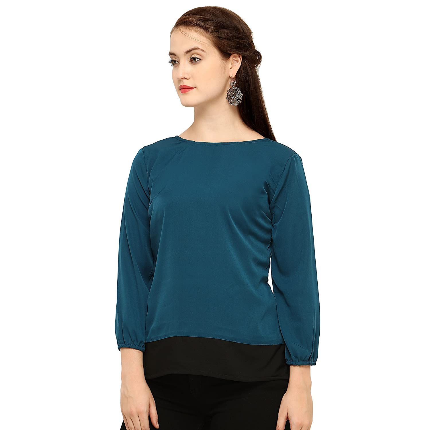 817d5df8cbe8f5 Vrati Fashion Women Tunic Short Top for Jeans Plain Diamond Creap Top for Daily  wear Stylish Casual and Western Wear Women/Girls Top: Amazon.in: Clothing &  ...